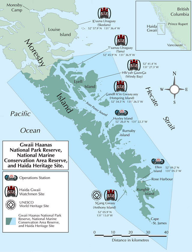 Map of Gwaii Haanas