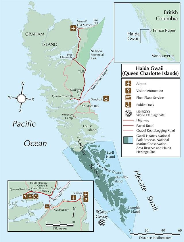 Map of Haida Gwaii